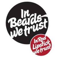 in red lipstick we trust/in beards we trust